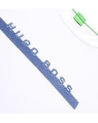 BOSS Green M-tee White Jersey Short Sleeve T-shirt for men