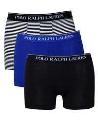 Polo Ralph Lauren | 3 Pack Black, Navy & Royal Blue Boxer Trunks for Men | Lyst