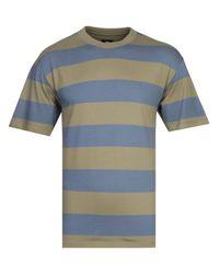 Edwin Green Quarter Auburn & Arona Stripe T-shirt for men