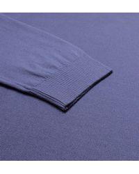 BOSS - Fabbert-o Airforce Blue V-neck Knitted Sweatshirt for Men - Lyst