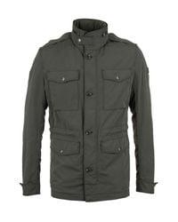 BOSS Multicolor Owade-w Khaki Hooded Field Jacket for men