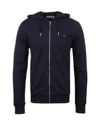 Original Penguin - Blue Dark Sapphire Zip Through Hooded Pique Sweatshirt for Men - Lyst