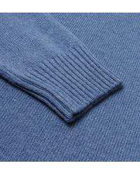 Hackett - London Light Blue Lambswool Quarter Zip Knit for Men - Lyst