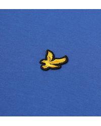 Lyle & Scott Lake Blue Classic Crew Neck T-shirt for men