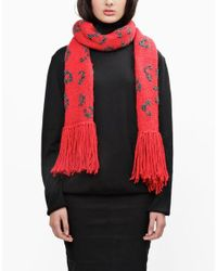 Wool And The Gang | Red Into The Wild Scarf | Lyst