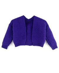 Wool And The Gang | Purple Mini Vivienne Cardigan | Lyst