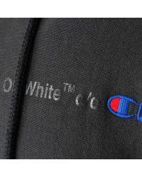 Off-White c/o Virgil Abloh - Black Champion Arrows Hoodie for Men - Lyst