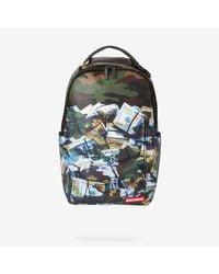 Sprayground Green Tough Money Backpack for men
