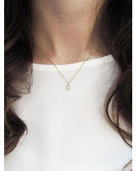 Jennifer Meyer - Metallic Single Drop Diamond Necklace - Lyst
