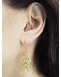 Cathy Waterman - Multicolor Falling Leaf Earrings - Lyst