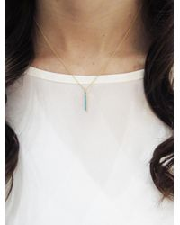 Jennifer Meyer - Multicolor Turquoise Long Bar Pendant Necklace - Lyst