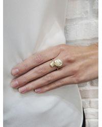 Jordan Askill - Metallic Double Leaf Diamond Ring - Lyst