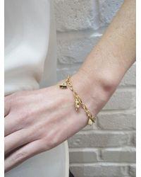 Ileana Makri Metallic Six Bell Charm Bracelet