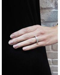 SHAY - Metallic Pavé Diamond Octagon Bullet Ring - Lyst