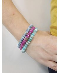 Sydney Evan - Blue Marquise Diamond Eternity Charm On Opal Beaded Bracelet - Lyst