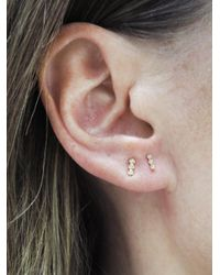 Ginette NY - Multicolor Diamond Strip Stud Earrings - Lyst