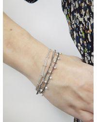 Ten Thousand Things Metallic Double Studded Pearl Chain Bracelet