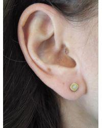 Tate - Metallic Rounded Cube Diamond Earrings - Lyst