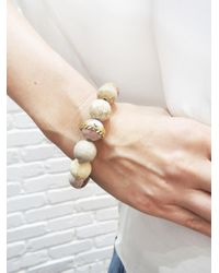 Cathy Waterman - Metallic Light Fossilized Coral Wheat Overlay Bracelet - Lyst