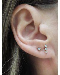 Wwake - Multicolor Three Step Opal And Diamond Stud Earrings - Lyst