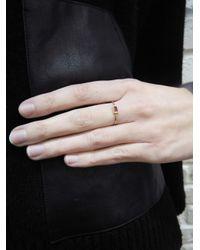 Jennifer Meyer - Metallic Ruby Baguette Stacking Ring - Lyst
