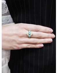 Larisa Laivins - Multicolor Turquoise And Diamond Pollux Ring - Lyst