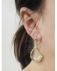Ileana Makri Metallic Sea Pebble Hoop Earrings