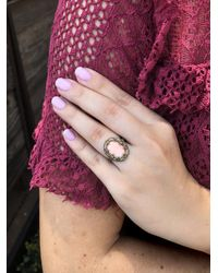 Cathy Waterman - Metallic Large Angel Skin Coral Ring - Lyst