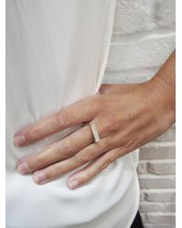 Jennifer Meyer - Metallic Diamond Rectangle Stacking Ring - Lyst