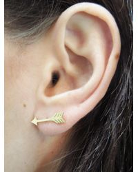Jennifer Meyer - Metallic Arrow Stud Earrings - Lyst