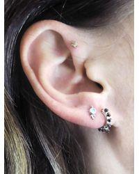Maria Tash - Multicolor 6.5mm Black Diamond Coronet Clicker Single Earring - Lyst
