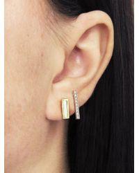 Jennifer Meyer - Multicolor Mother Of Pearl Inlay Short Bar Stud Earrings - Lyst