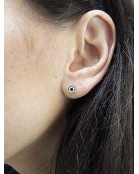 Sydney Evan - Multicolor Diamond And Enamel Evil Eye Single Stud Earring - Lyst