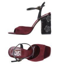 Sgn Giancarlo Paoli Purple Sandals