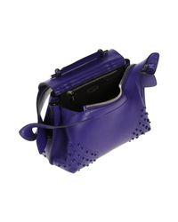 Tod's Purple Handbag