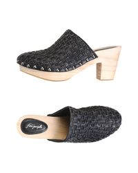 Free People - Black Adelaide Clogs - Lyst