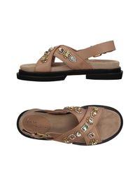 Maria Cristina Brown Sandals