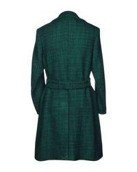 Mp Massimo Piombo Green Coat for men