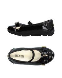 MICHAEL Michael Kors Black Ballet Flats