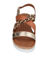 Ovye' By Cristina Lucchi Metallic Sandals