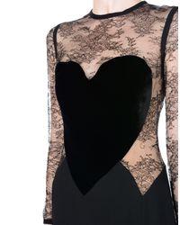 Robe longue Elie Saab en coloris Black