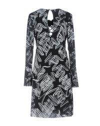Hanita Black Short Dress