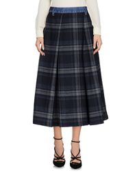 People Blue 3/4 Length Skirt