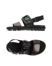 Vic Matié Black Sandals
