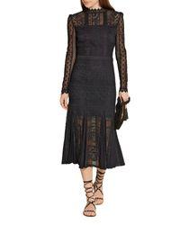 Temperley London Black 3/4 Length Dress