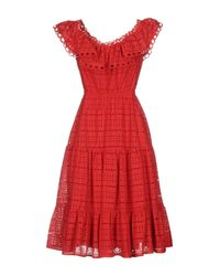 Space Style Concept Red Knielanges Kleid