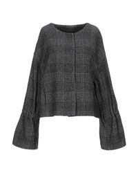 Manteau long Annie P en coloris Black