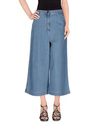 Fendi Blue Denim Capris