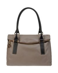 Carlo Pazolini - Gray Large Leather Bag - Lyst