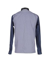 Mauro Grifoni - Blue Shirts for Men - Lyst